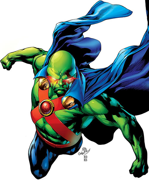 Martian Manhunter (DC Comics) in flight by Ivan & Rod Reis