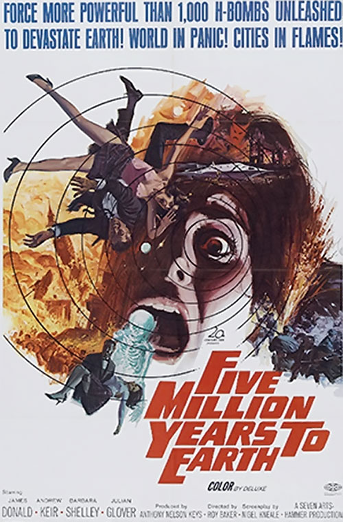 Quatermass and the Pit - Five million years to Earth movie poster