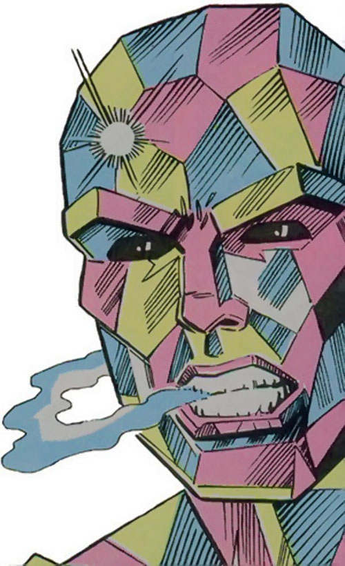 Martinex of the Guardians of the Galaxy (Marvel Comics) face closeup
