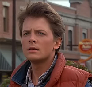 Marty McFly Back Future Michael J. Fox portrait