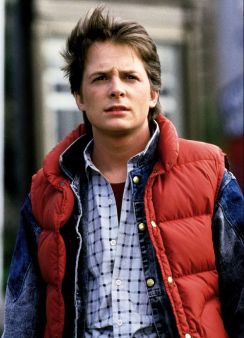 Marty McFly (Michael J Fox in Back to the Future)