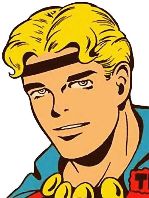 Marvel Boy of the 1950s (Atlas Comics) face closeup