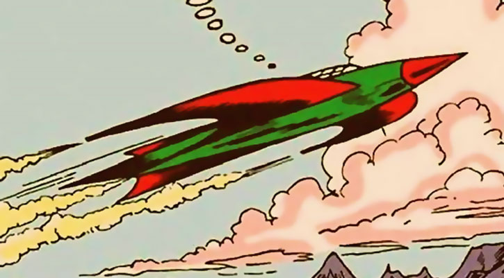Marvel Boy (Bob Grayson)'s rocket ship