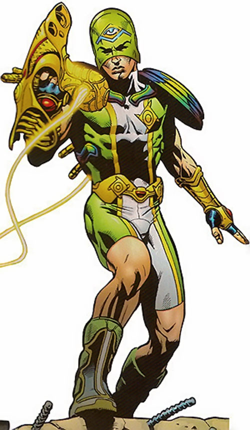 Marvel Boy (Noh-Varr) (Marvel Comics) with an alien gun