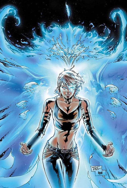 Marvel Girl of the X-Men (Rachel Grey) (Marvel Comics) with a blue phoenix aura by Tan