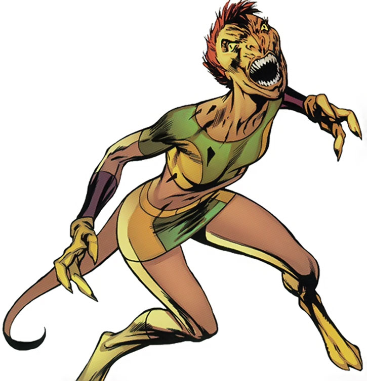 Marvel Girl (Rachel Summers) mutated as a Haukika