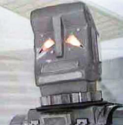 Marvin the paranoid android (boxy version) head closeup