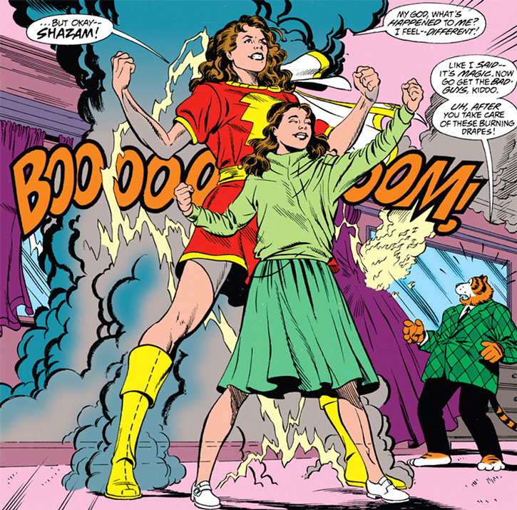 Mary Bromfield turn into Mary Marvel