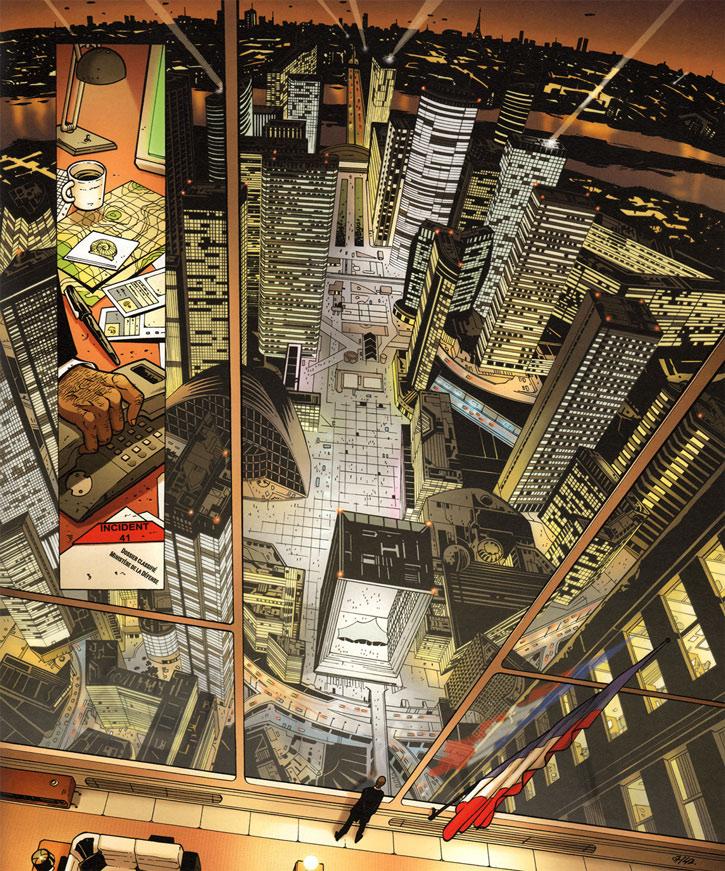 Masqué (bande dessinée, Ch. Lehman) - La Défense du futur méga immeubles