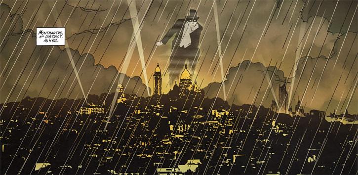 Masqué (bande dessinée, Ch. Lehman) - Montmartre du futur avec Fantomas