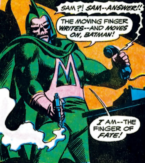 Masquerader (Batman enemy) (DC Comics) dramatic smoking gun