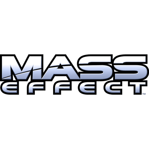 Mass Effect 1 logo on a white background