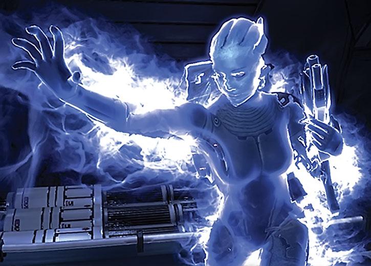 Liara erects a biotic barrier