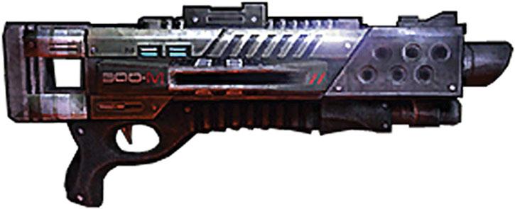 Drawing of a Claymore shotgun