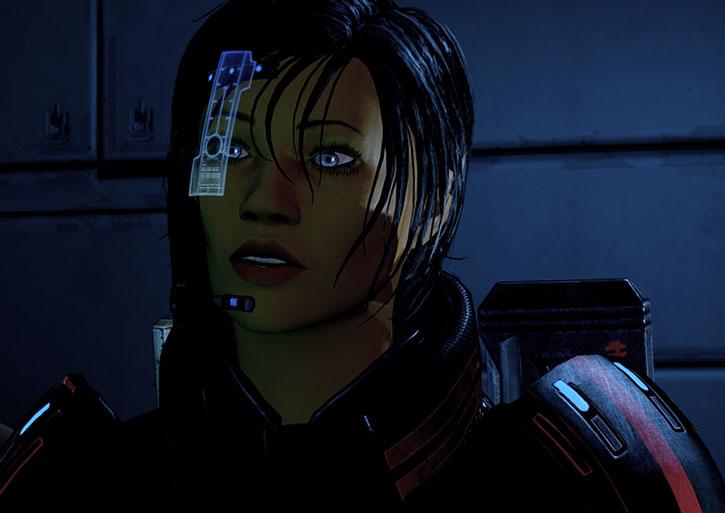 Commander Shepard talking
