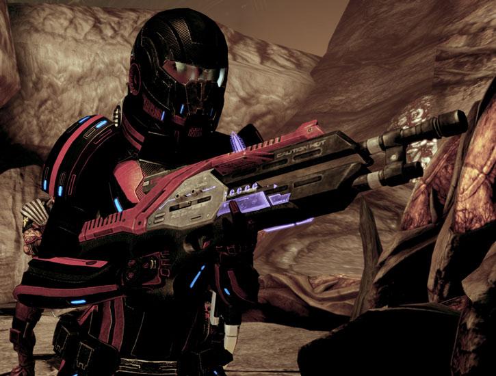 Commander Shepard finds her beloved Revenant