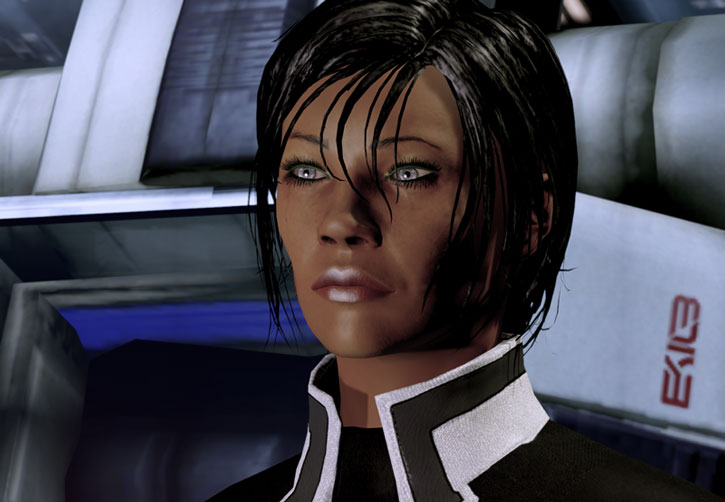 Commander Shepard ME2 face closeup