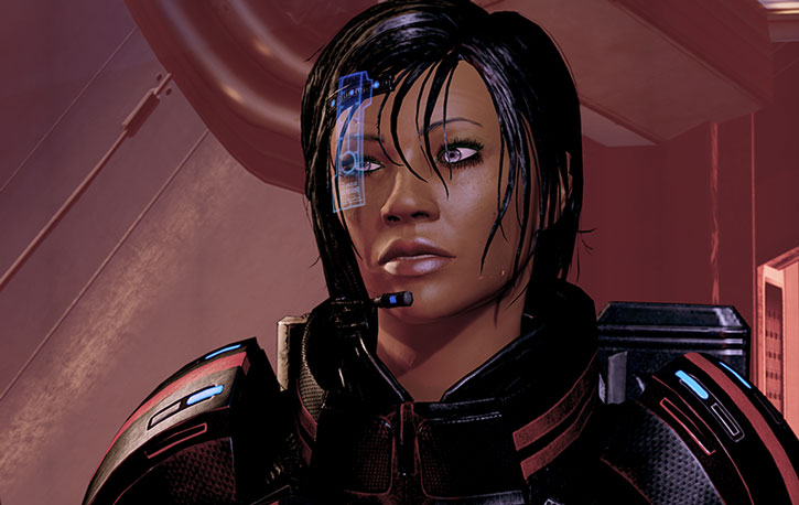 Commander Shepard establishing a rapport