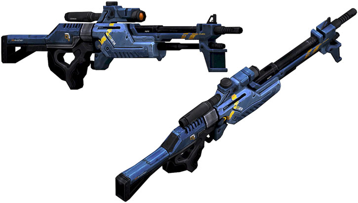 Incisor sniper rifle model views