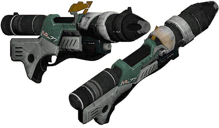 ML77 missile launcher model views