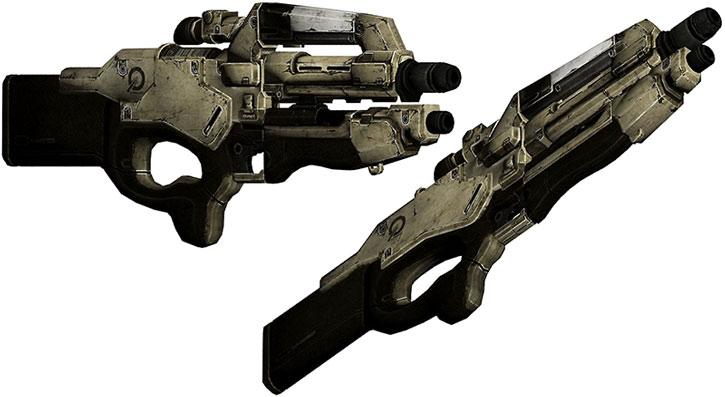 Mattock rifle model views