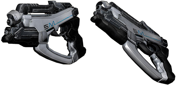 Phalanx pistol model views