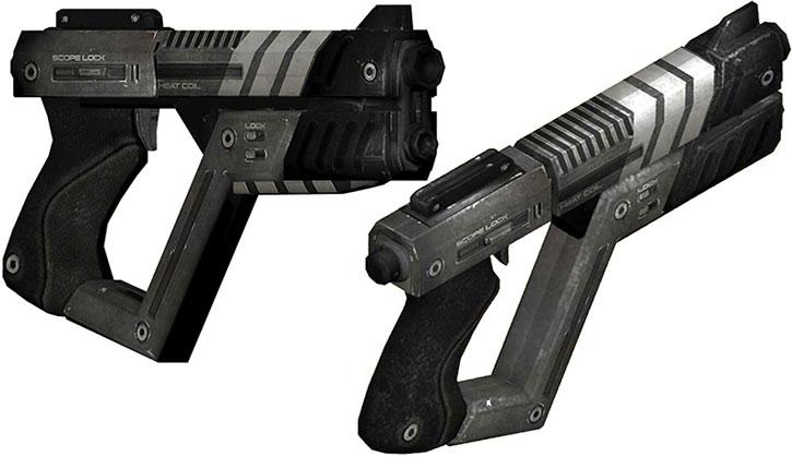 Shuriken Machine Pistol model views