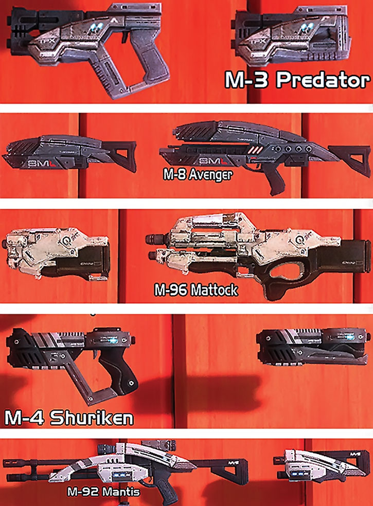 ME2 guns in folded and combat modes