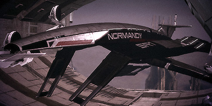 The docked Normandy SR1