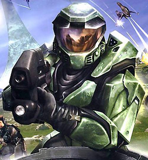 Spartan soldier (Halo) closeup