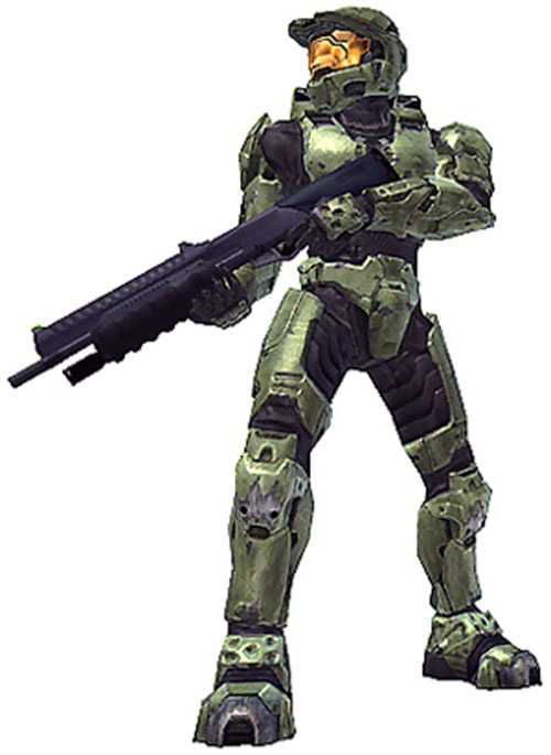 Spartan soldier (Halo) with heavy shotgun