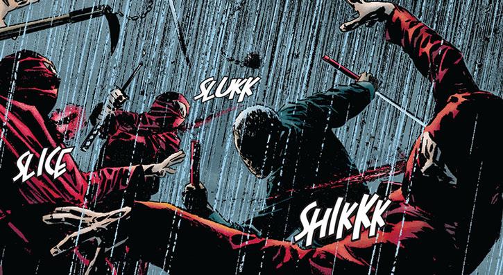 Master Izo fighting Hand ninja