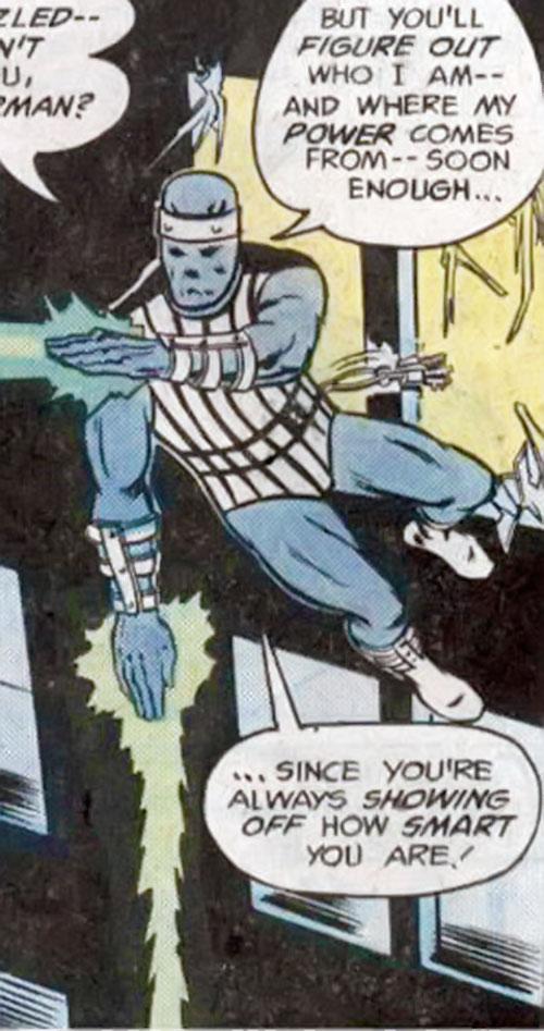 Master Jailer (Superman enemy) (DC Comics) firing green beams from his hands