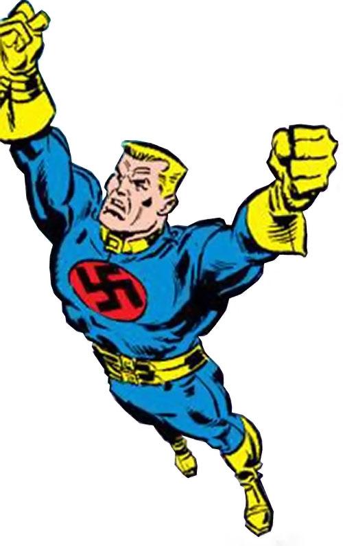 Master Man (Marvel Comics) in flight