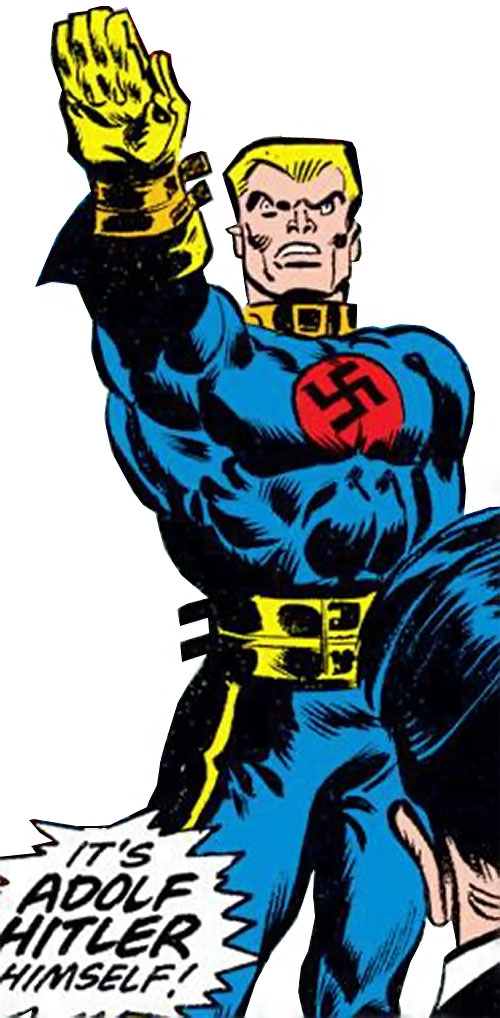 Master Man (Marvel Comics) doing the Nazi salute