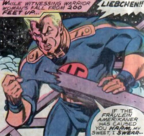 Master Man (Marvel Comics) breaks through wooden beams