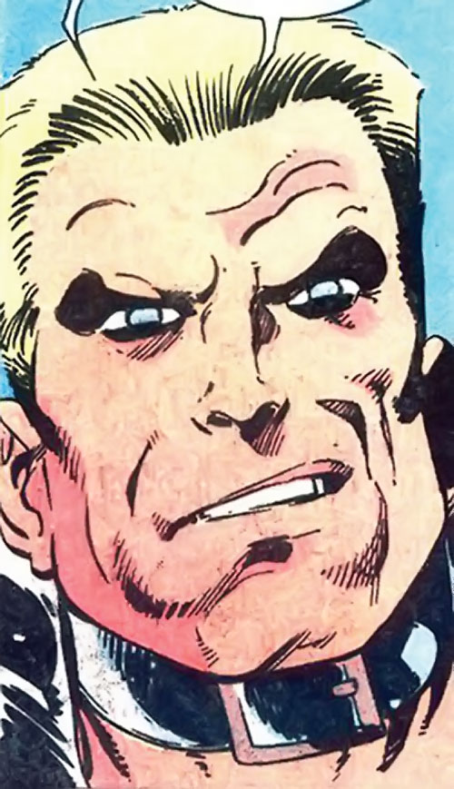 Master Man (Marvel Comics) with a kinky leather collar