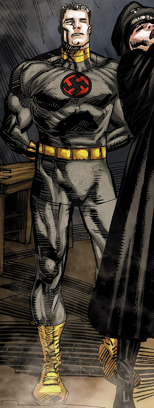 Master Man (Marvel Comics) in a gray costume