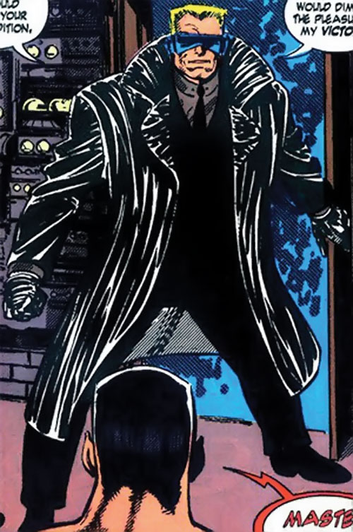Master Man (Marvel Comics) with his black suit and trench coat