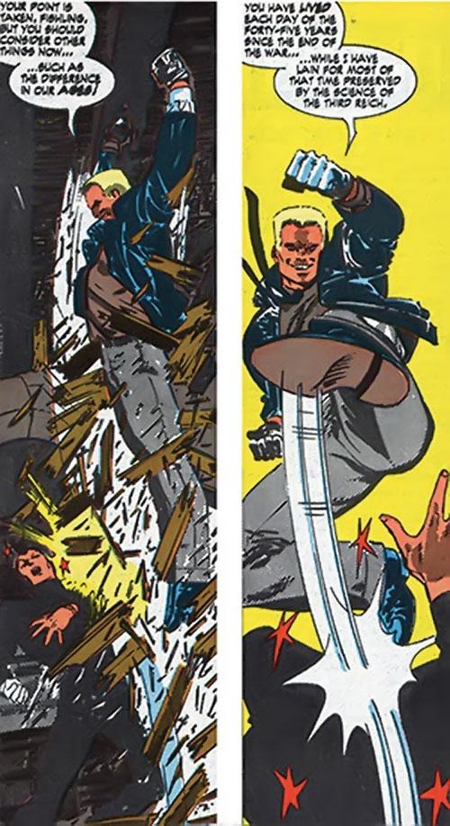 Master Man (Marvel Comics) fights as a brownshirt