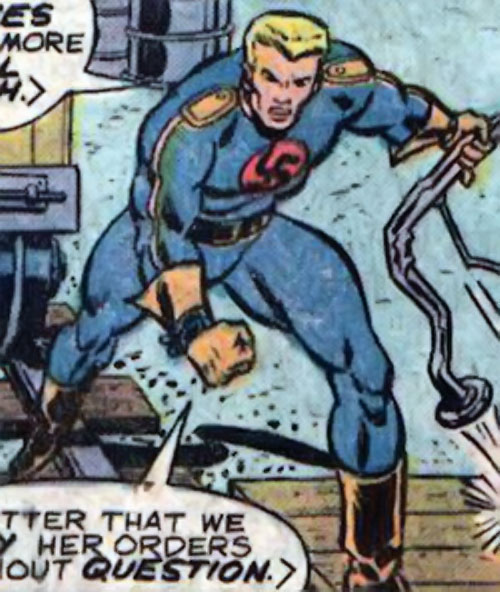 Master Man (Marvel Comics) rips off a metal structure