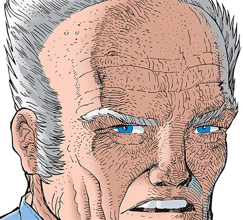 Master Man (Marvel Comics) aged face closeup
