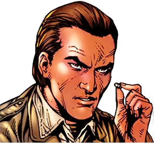 Emil Burbank aka Master Menace (Supreme Power) (Marvel Comics) face closeup