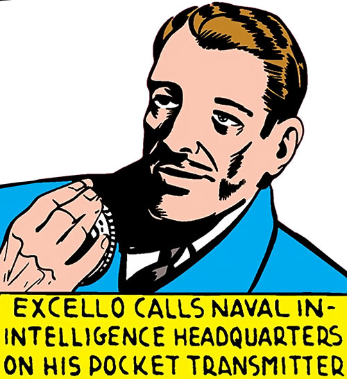 Master Mind Excello (Timely Marvel Comics) with his pocket transmitter