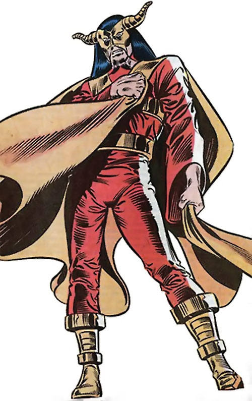 Master Pandemonium (Avengers enemy) (Marvel Comics) with his orange cape