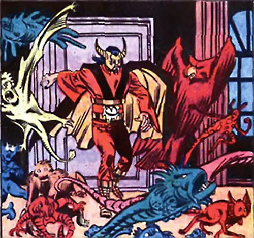 Master Pandemonium (Avengers enemy) (Marvel Comics) house full of small demons