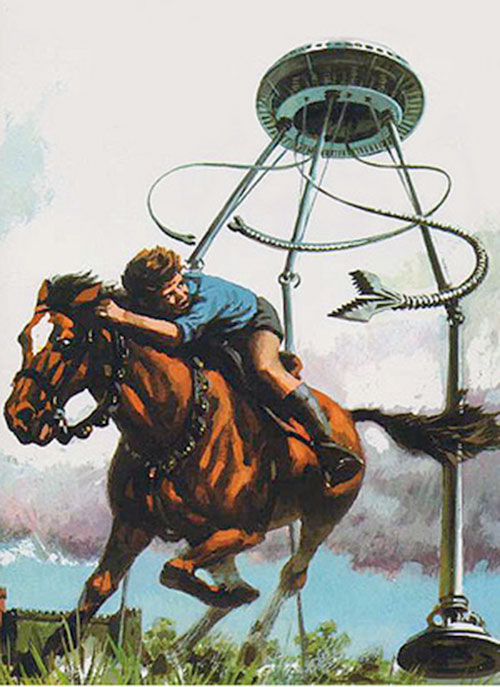 Tripod of the Masters (John Christopher novels) chasing a boy on a horse