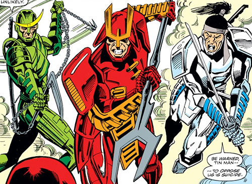 The Masters of Silence (Iron Man characters) (Marvel Comics) charging