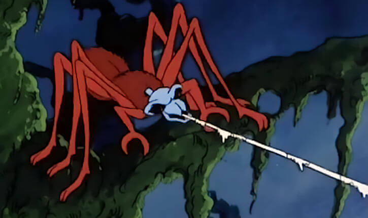 Masters of the Universe 1980s cartoon - Animals and monsters - Arachna evil spider