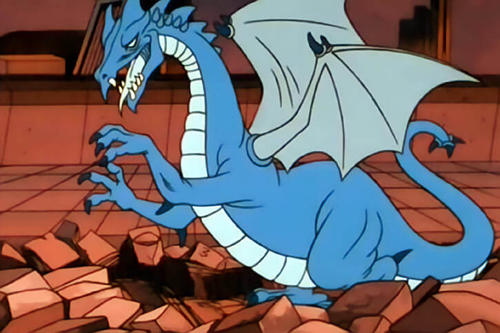 Masters of the Universe 1980s cartoon - Animals and monsters - Blue dragon